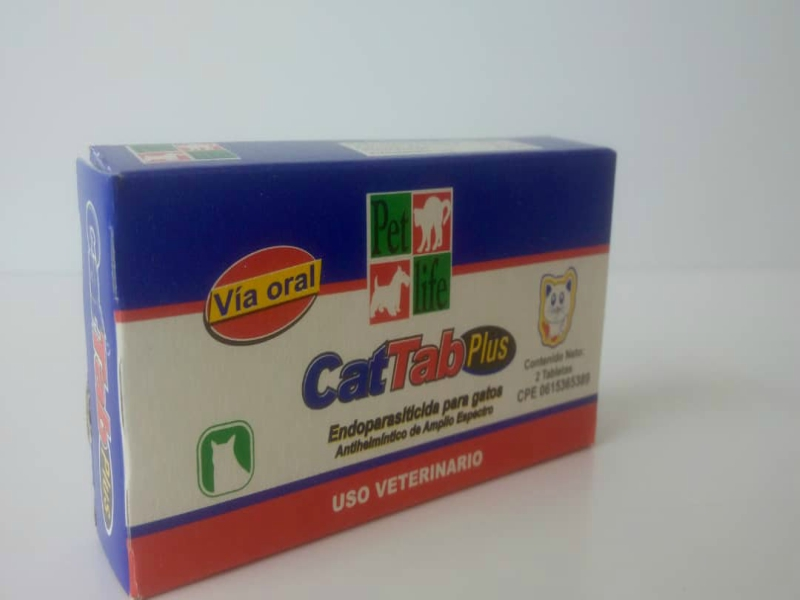 CAT TAB PLUS / GATOS / PARÁSITOS / ANTIPARASITARIO /