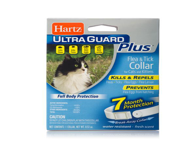 HARTZ ULTRA GUARD COLLAR ANTIPULGAS / GATOS /  GARRAPATAS / PIOJOS / COLLAR