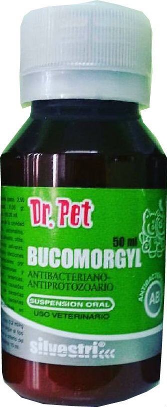 BUCOMORGYL 50ML / ANTI BACTERIANO / PERROS / GATOS / MEDICAMENTO